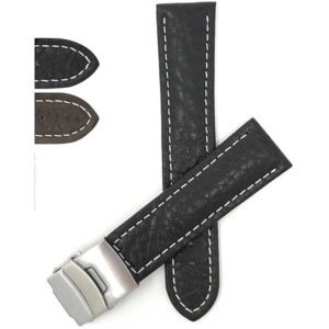 Bandini DE900 | Mens Leather Watch Band with Deployment Buckle