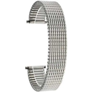 Bandini EX240 | Stainless Steel Stretch Watch Band, Straight End, Metal Expansion Strap