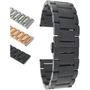 Bandini MET.1700 | Mens Metal Strap, Replacement Steel Watch Band, Ajustable