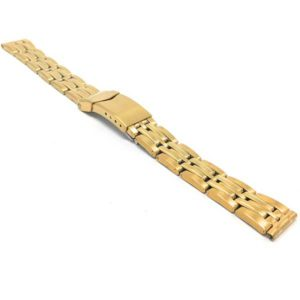 ZRC MET.1784 | Womens Stainless Steel Watch Band, Deployment, Gold or Silver Tone