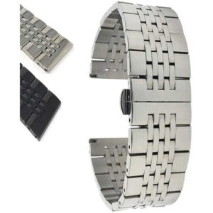 Bandini MET.1900 | Mens Metal Watch Band, Stainless Steel Strap, Ajustable, Many Colors