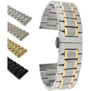Bandini MET.315 | Stainless Steel Watch Band for Men, Metal Watch Bracelet, Removable Links