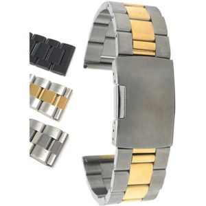 Bandini MET.416 | Mens Stainless Steel Watch Band, Metal Watch Band, Ajustable, Removable Links