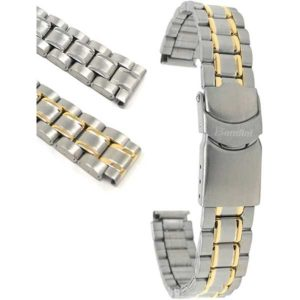 Bandini MET.486 | Womens Metal Watch Band, Deployment, Gold or Silver Tone