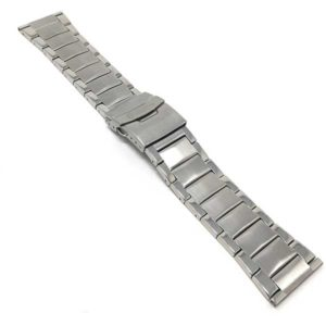 Bandini MET.578 | 26mm Silver Tone Metal Band for Men, Stainless Watch Strap, Ajustable