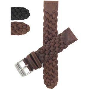 Bandini Q54 | Vintage Weaved Leather Strap, Replacement Band for Swiss Army Watches