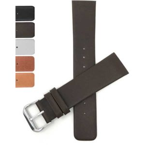 SKG | Screw Fitting Leather Replacement Watch Band for Skagen Watch Strap, Attaches with Screws