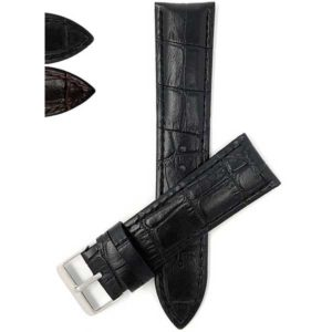 Bandini VEG100 | Vegan Watch Band, Premium Faux Leather Strap, Alligator Pattern